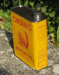 1 X Bidon Huile. Ontario. Motor Oil. 2 Litres. Bel Etat