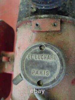 1 ancien COMPRESSEUR GONFLEUR LUCHARD GARAGE AUTO MOTO, no émaillée