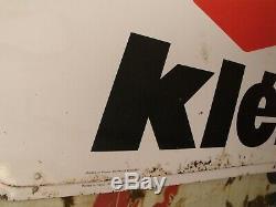 1 ancienne GRANDE PLAQUE TÔLE PNEU KLEBER, motos, autos, garage, no émaillée