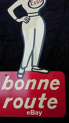 1 ancienne pin-up ESSO 1960 goutte d'huile, vintage, garage, no émaillée, no copie