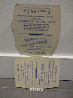 2 anciens carton OXO LIEBIG n plaque émaillée kub maggi banania menier plv