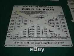 3 TOLES LITHOS DE GONFLEUR COMPRESSEUR MICHELIN NEUVES bidon huile oil can pump