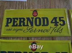 5 tôles PERNOD 45 est signé Pernot Fils G. Andreis Marseille