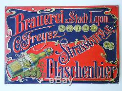 A3124@ Rare Tole Biere Beer Brauerei Stadt Lyon C. Freysz Strassburg Flaschenbier