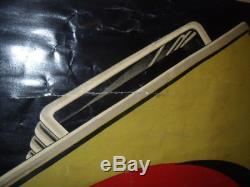 AFFICHE SUR ZINC 120X160 BIDON HUILE CELOR 1932 oil can pompe pump bp esso shell