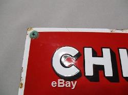 AH752 CHICOREE TIGRE TRES RARE PLAQUE EMAILLEE BOMBEE 34 x 17 cm JAPY BON ETAT