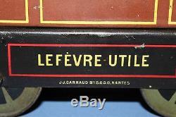 Ancienne Boite Pub Tole Litho Tramway Nantais Biscuits Lu Lefevre Utile 1907