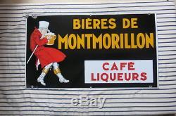 Ancienne Plaque Biere De Montmorillon