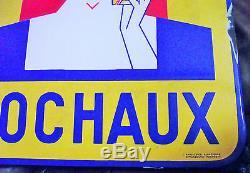 Ancienne Plaque Emaillee Biere Sochaux Alsacienne Cubiste Eas 58x38cm A Oreilles