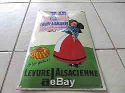 Ancienne Plaque Emaillee Bombee Levure Alsacienne Alsa Strasbourg Alsace Moench