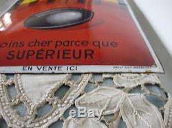 ANCIENNE PLAQUE EMAILLEE BOMBEE LE BOULET DAHL EMAILLERIE ALSACIENNE