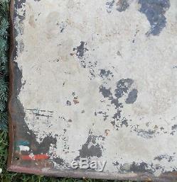 ANCIENNE PLAQUE EMAILLEE BRASSERIE LA LORRAINE PUBLICITAIRE EPICERIE 112x72 CM