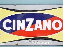 ANCIENNE PLAQUE EMAILLEE CINZANO