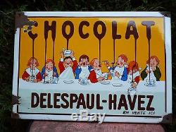 Ancienne Plaque Emaillee Delespaul Havez