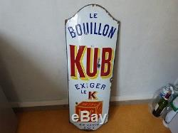ANCIENNE PLAQUE EMAILLEE KUB