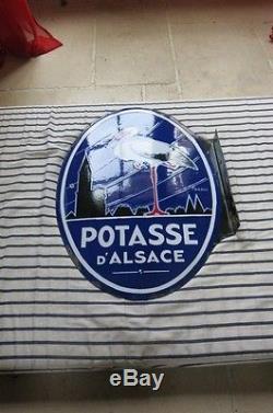 Ancienne Plaque Emaillee Potasse D Alsace