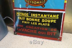 Ancienne Plaque Emaillee Vache Qui Rit Petite Marmitte