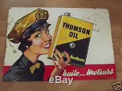 ANCIENNE PLAQUE TOLE HUILE THOMSON OIL