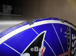 Ancienne Potasse D'alsace Plaque Emaillee Grand Format Signée Hansi