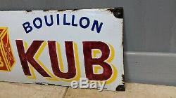 ANCIENNE plaque émaillée BOUILLON KUB émail Edmond Jean