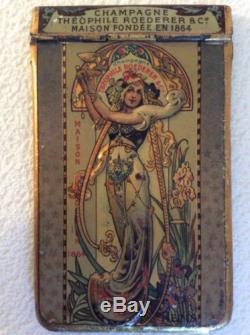 ANCIEN CARNET TOLE LITHO CHAMPAGNE THÉOPHILE ROEDERER & Cie 1906