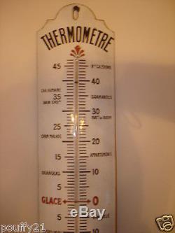 Ancien Thermometre Emaillee Des Chocolat Revillon En Bon Etat
