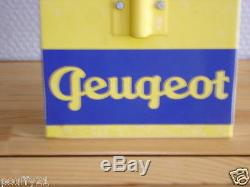 Ancien Thermometre Emaillee Peugeot