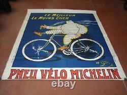 AUTHENTIQUE AFFICHE PNEU VELO MICHELIN O' GALO 100X80 cm D ORIGINE NO COPY