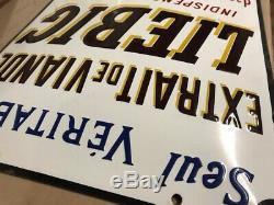 À vendre Véritable plaque émaillée Représentant La Pub Liebig Mesurant 330/475