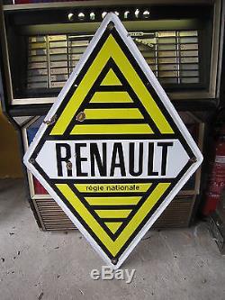 Ab482 Plaque Emaillee Renault Regie Nationale Emaillerie Alsacienne Strasbourg