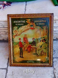 Absinthe Rivoire Rare Tôle Lithographiee. Marseille 1906