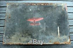 AncIenne plaque émaillée bombée PEROTYL 1930, aliment bétail veau porc, pur jus