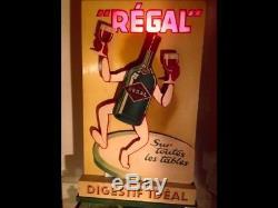 Ancien AUTOMATE PUBLICITAIRE 1930 digestif RÉGAL No plaque émaillée
