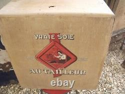 Ancien CASIER BOIS DE BOUTIQUE COUTURE SOIE AU PHENIX. NO plaque émaillée
