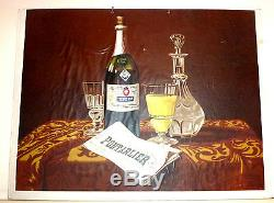 Ancien Carton Pub Absinthe Pernod Fils Pontarlier