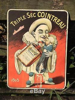 Ancien Carton Triple-sec COINTREAU 1905 CHAMBRELENT PARIS ANGERS