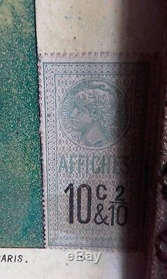 Ancien Carton publicitaire ABSINTHE DE PONTARLIER-DENISET JEUNE-CARTON PUB 54/37
