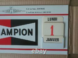 - Ancien Glacoide Champion (bougies) En Tôle Thermomètre Neuf Carton D'usine