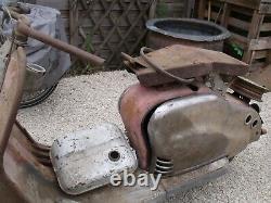 Ancien SCOOTER LAMBRETTA 125 LD 1953 PAS DE C. G, garage, autos, motos, no émaillée