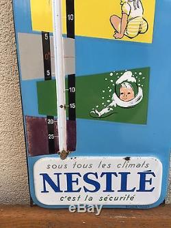 Ancien Thermomètre NESTLÉ Plaque Émaillé Publicitaire Pub Deco Cuisine