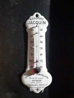 Ancien Thermomètre Émaillé Jacquin