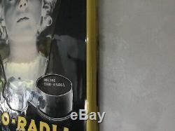 Ancien Thermomètre émaillé Tho Radia Plaque Émaillée Tho Radia