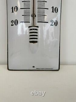 Ancien Thermomètre émaillée Castrol EAS
