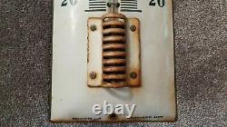 Ancien Thermomètre émaillée Castrol Neuhaus Japy