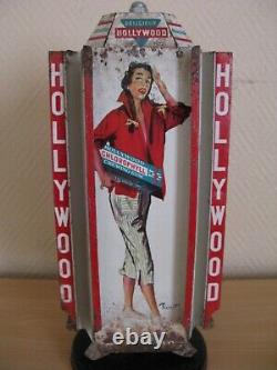 Ancien Tourniquet Distributeur Tablettes Chewing Gum Hollywood Pin Up Brenot