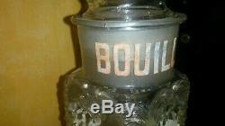 Ancien bocal bouillon kub épicerie ancienne plaque émaillée kub