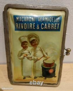 Ancien étui à cigarettes Rivoire & Carret zigaretten n plaque émaillée kub maggi