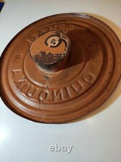 Ancien horloge publicitaire tole émaillée Apéritif St Raphael Quinquina Pendule