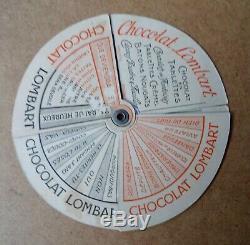 Ancien jeu patience CHOCOLAT LOMBART no kub maggi menier plaque émaillée chromo