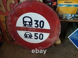 Ancien panneau Signalisation Plaque Émaillée Vintage